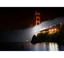 Golden Gate Fog at Night Photographic Print