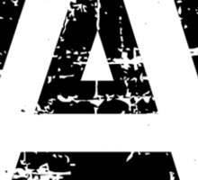 Letter A (Distressed) two-color black/white character Sticker