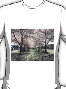 Impressionistic Spring Cherry Blossoms  T-Shirt