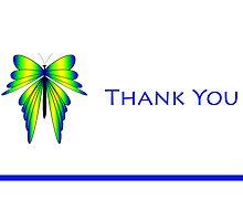 Butterfly Thank You by Sheryl Kasper