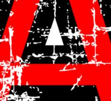 Letter A (Distressed) two-color black/red character Sticker
