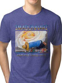 imadonnari Italian street painting festival.  Santa Barbara, California Tri-blend T-Shirt