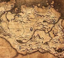 Distressed Maps: Elder Scrolls Skyrim by Alice Edwards