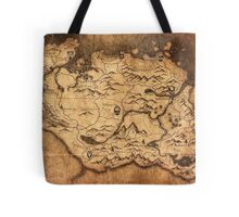 Distressed Maps: Elder Scrolls Skyrim Tote Bag