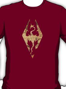 Distressed Maps: Elder Scrolls Skyrim T-Shirt