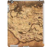 Distressed Maps: Elder Scrolls Skyrim iPad Case/Skin