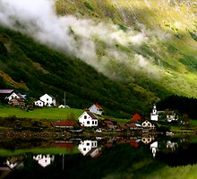Undredal, Aurlandsfjord, Norway by C1oud