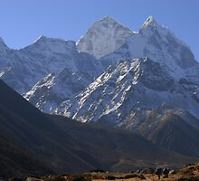 Everest trek - headed south from Pheriche to Namche Bazaar. by Richard  Stanley