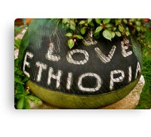 I Love Ethiopia Canvas Print