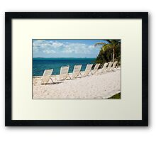 Inviting viewing spots on Elbow Cay, Bahamas Framed Print