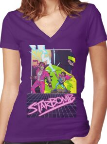 Starbomb II Women's Fitted V-Neck T-Shirt