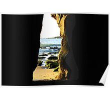 The Back Door to the Cave - Caves Beach Poster