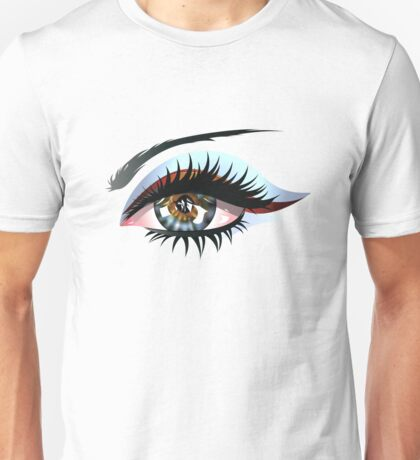 Blue Eye with Makeup Unisex T-Shirt