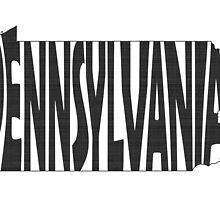 Pennsylvania State Word Art by surgedesigns