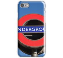 Westminster Underground station sign iPhone Case/Skin