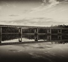 Grayson Lake Bridge (B&W) by Jason Vickers