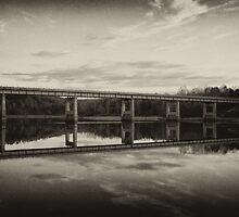 Grayson Lake Bridge (B&W) by Jason Vickers