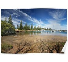 Low Tide in Yamba, New South Wales Poster