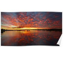 Sunset in Yamba, New South Wales Poster