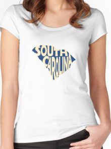South Carolina State Word Art Women's Fitted Scoop T-Shirt