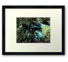 Camouflage House Framed Print