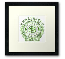 Undefeated Boxing Champ MoneyTeam 47-0 Framed Print