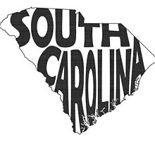 South Carolina State Word Art by surgedesigns