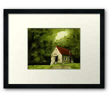 """""""Country Church 1""""... prints and products Framed Print"""