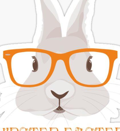 Hipster Easter Sticker