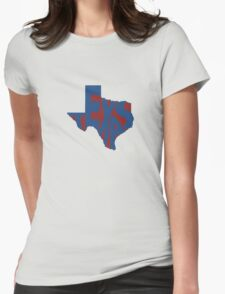 Texas State Word Art Womens Fitted T-Shirt