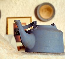 Kettle on Santorini, Greece by groophics