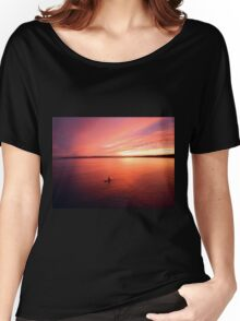 Solitude sunset paddle Women's Relaxed Fit T-Shirt