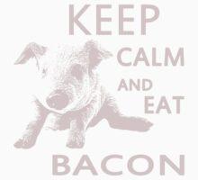 keep calm and eat bacon pig Kids Tee