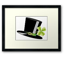 Hat and Clover Framed Print