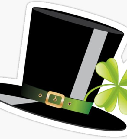 Hat and Clover Sticker