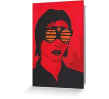 Martian Colonist Painting Greeting Card