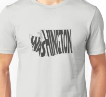 Washington State Word Art Unisex T-Shirt