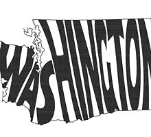 Washington State Word Art by surgedesigns