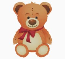 Teddy Bear with Red Bow Kids Clothes