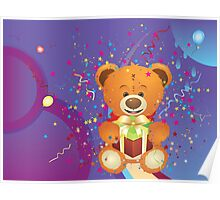 Teddy Bear with Gift Box 4 Poster