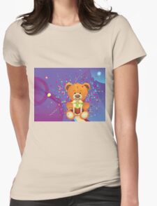 Teddy Bear with Gift Box 4 Womens Fitted T-Shirt