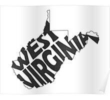 West Virginia State Word Art Poster