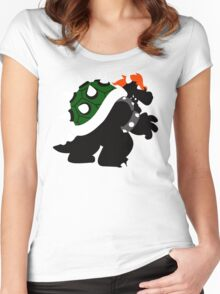 Nintendo Forever - Bowser King of the Koopas Women's Fitted Scoop T-Shirt