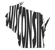 Wisconsin State Word Art by surgedesigns