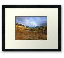 highlands of scotland  Framed Print