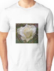 Close up of white rose Unisex T-Shirt