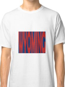 Wyoming State Word Art Classic T-Shirt
