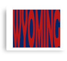 Wyoming State Word Art Canvas Print