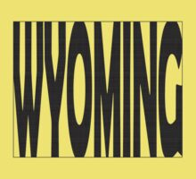 Wyoming State Word Art One Piece - Short Sleeve