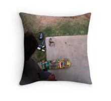 Concrete Simplicity - Colour Throw Pillow